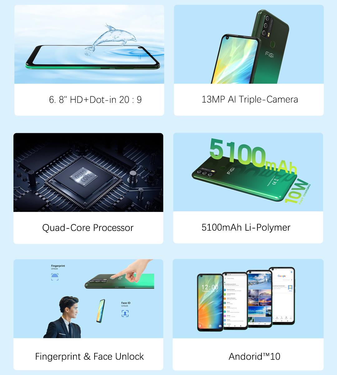 Смартфон FiGi Note 3 3/32Gb 4